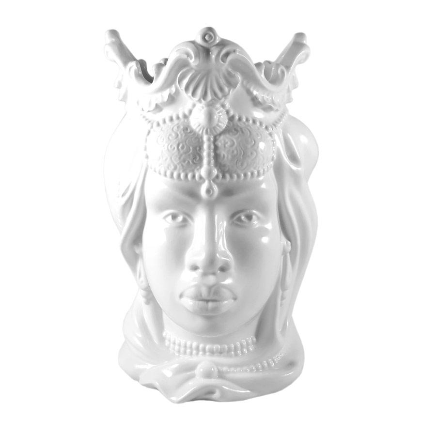 Testa di Moro Donna Bianca H 38 cm