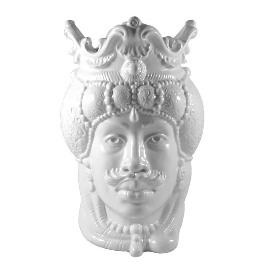 Testa di Moro Uomo Bianco H 38 cm